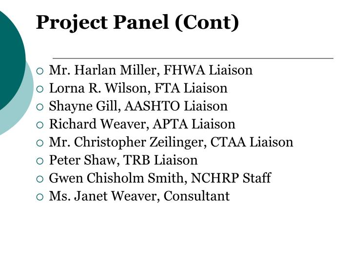 Project Panel (Cont)