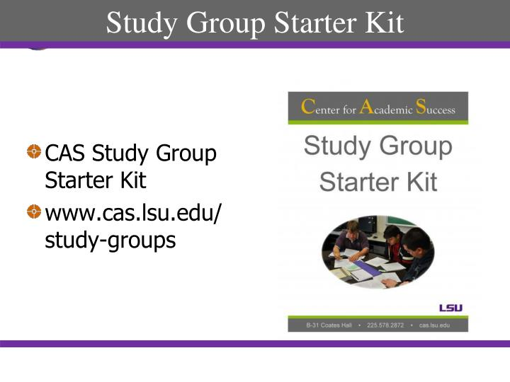 Study Group Starter Kit