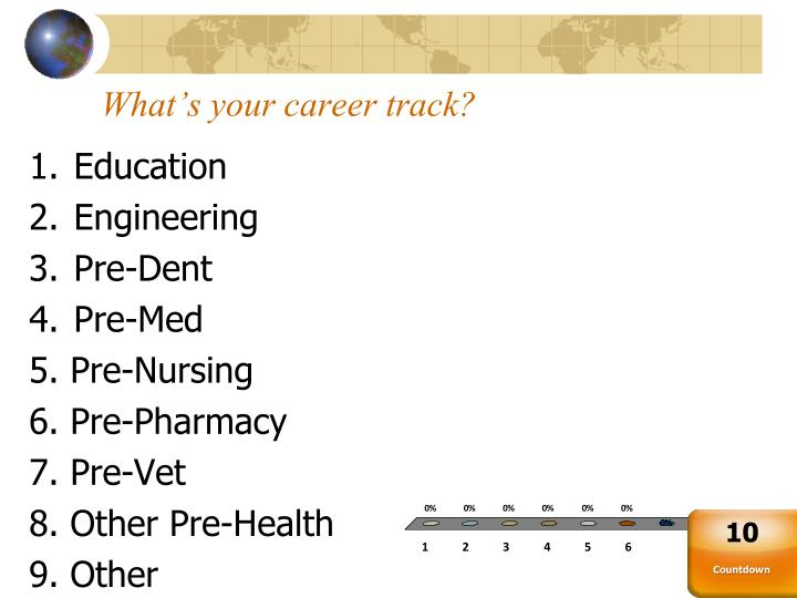 What s your career track