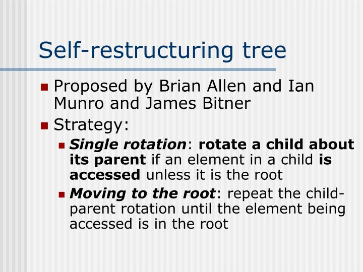 Self-restructuring tree