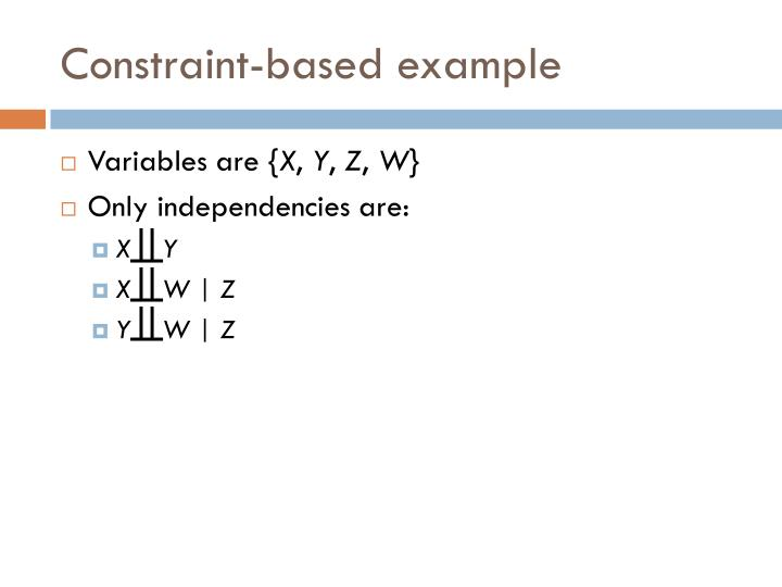 Constraint-based example