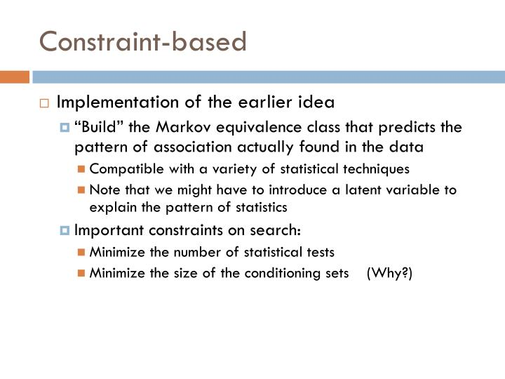 Constraint-based
