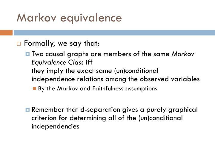Markov equivalence