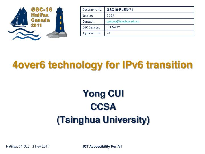 4 over6 technology for ipv6 transition