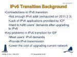 ipv6 transition background
