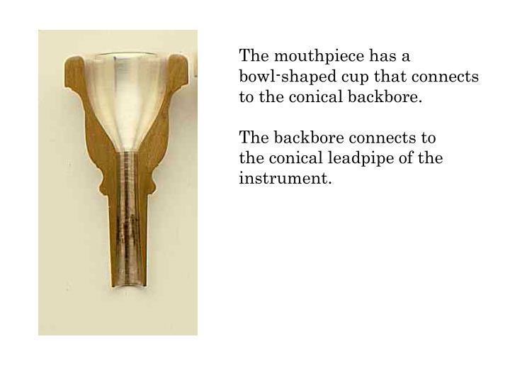 The mouthpiece has a