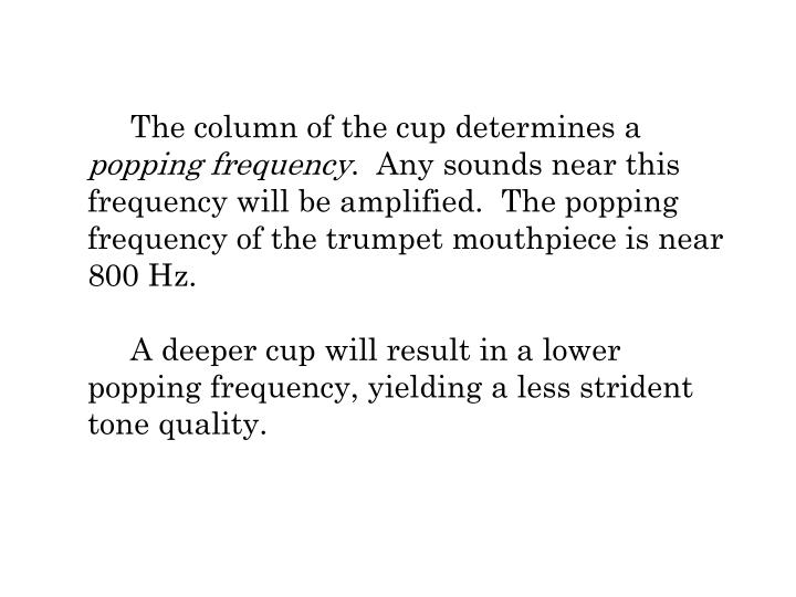 The column of the cup determines a