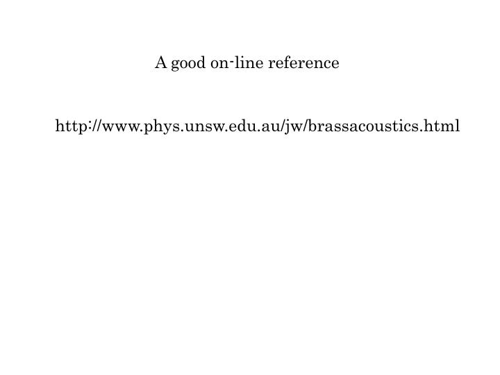 A good on-line reference