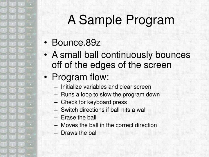 A Sample Program