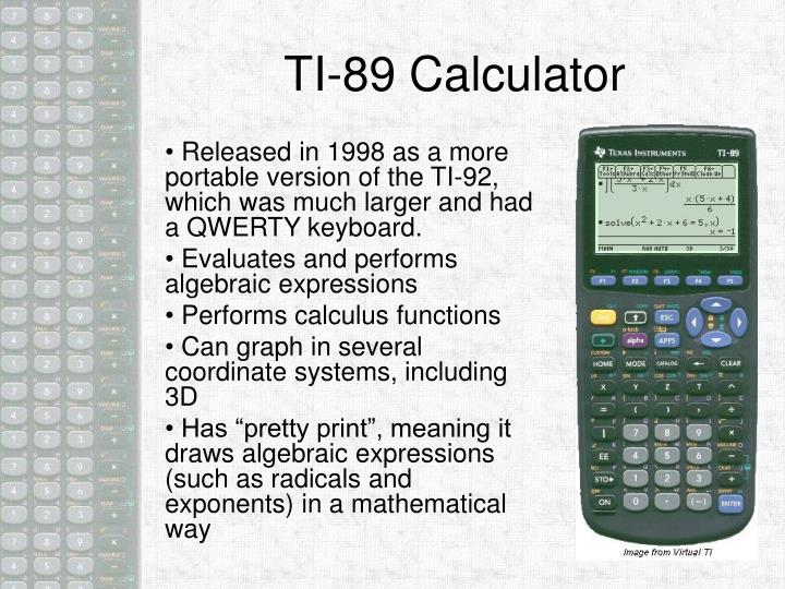 TI-89 Calculator