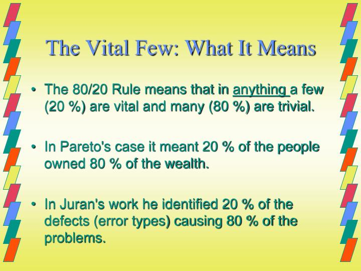 The Vital Few: What It Means