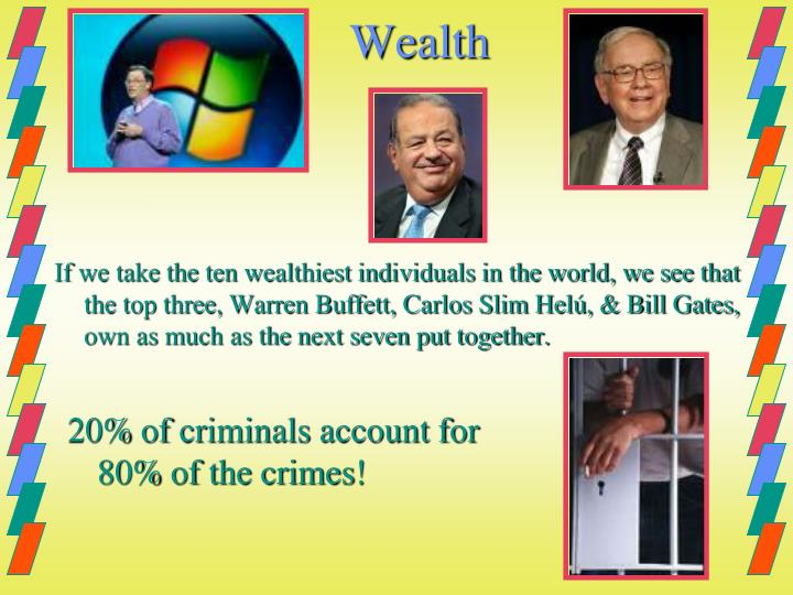 20% of criminals account for 80% of the crimes!