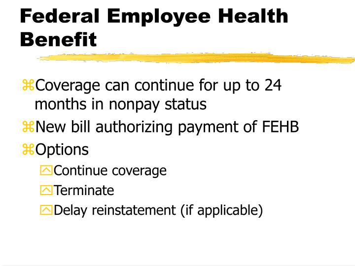 Federal employee health benefit
