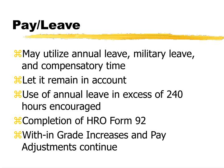 Pay/Leave