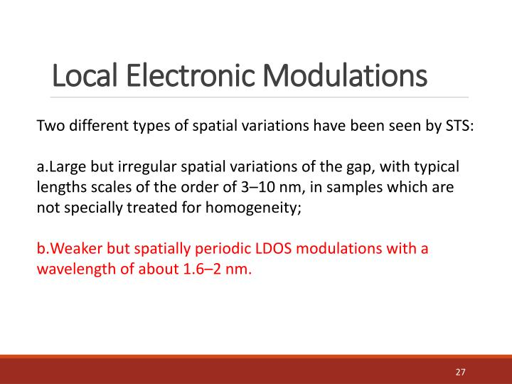 Local Electronic Modulations
