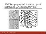 stm topography and spectroscopy of a cleaved bi 2 sr 2 cacu 2 o 8 thin film