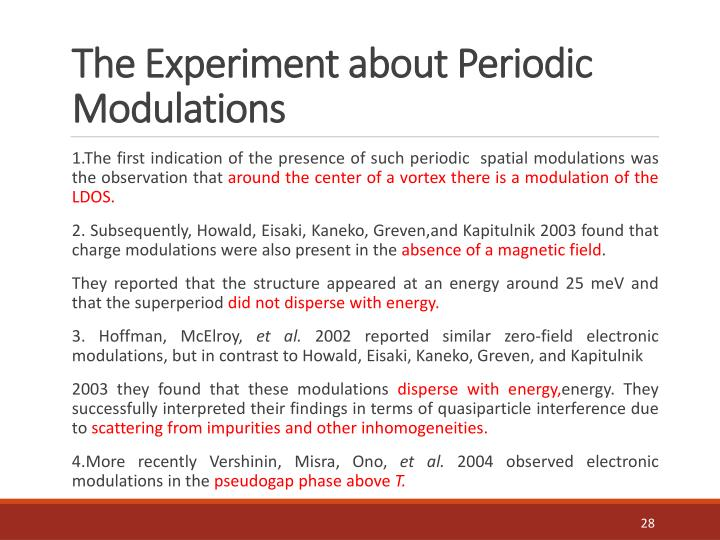 The Experiment about Periodic Modulations
