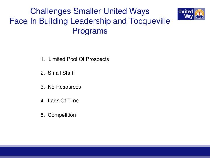 Challenges Smaller United Ways