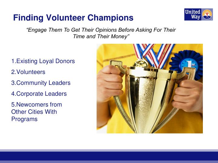 Finding Volunteer Champions