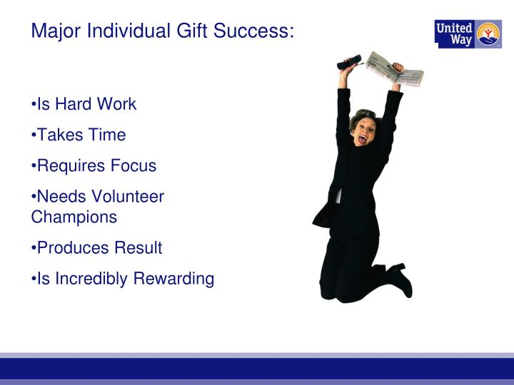 Major Individual Gift Success: