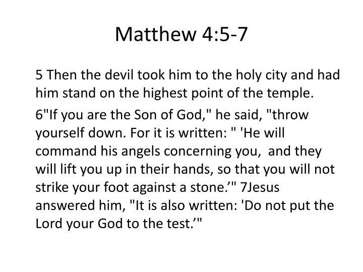 Matthew 4:5-7