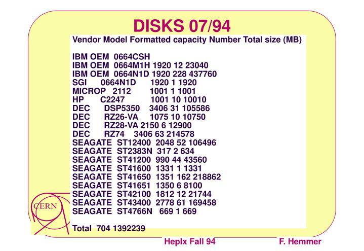 DISKS 07/94