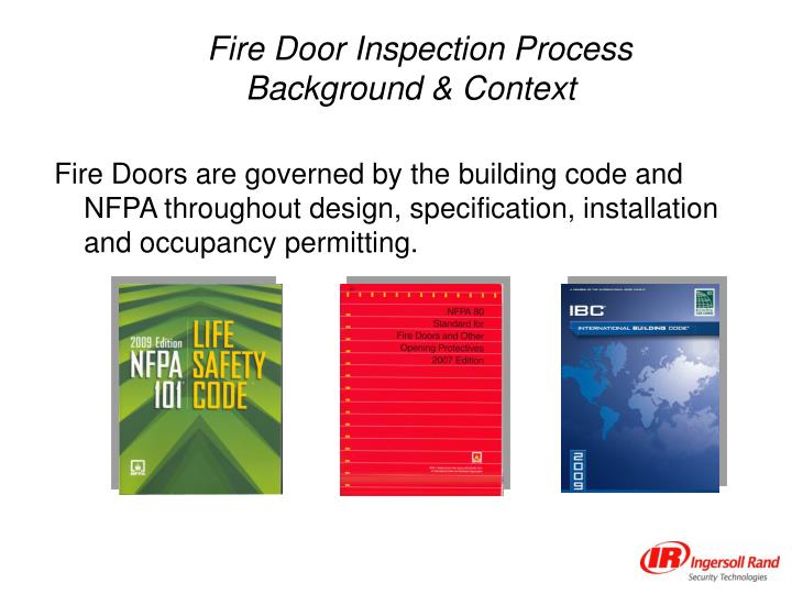 PPT Annual Fire Door Inspection PowerPoint Presentation