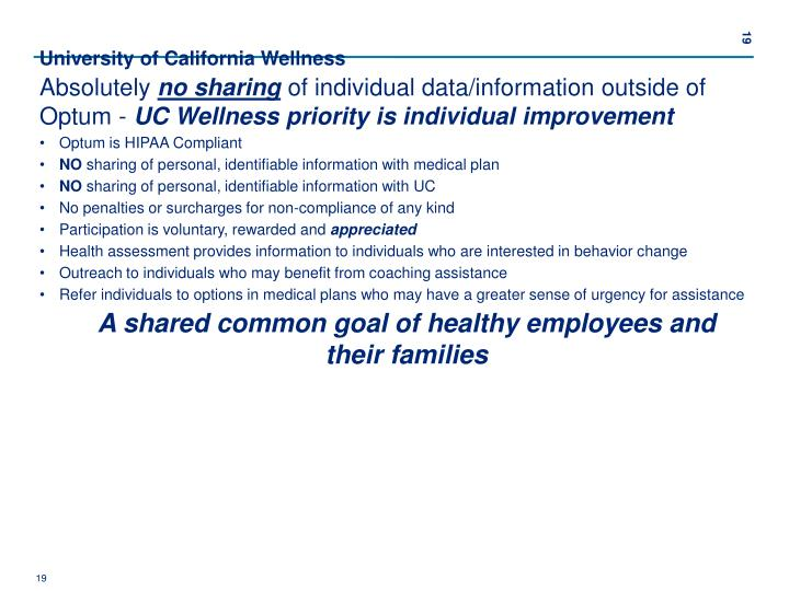 University of California Wellness