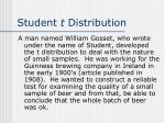 student t distribution