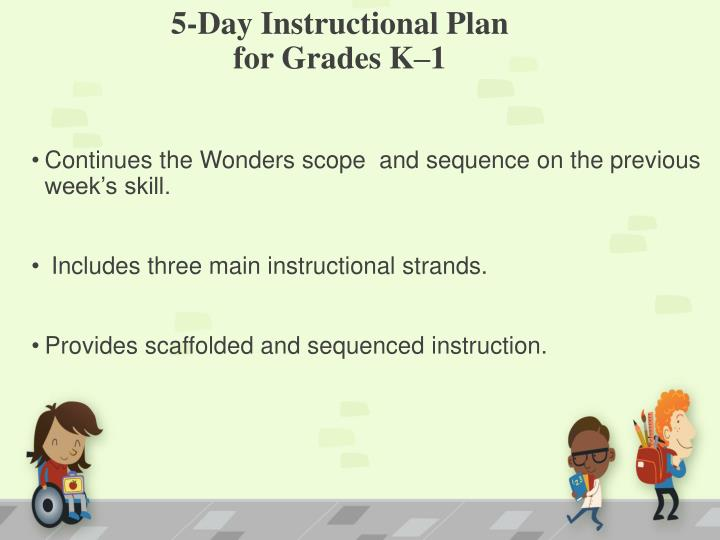 5-Day Instructional Plan