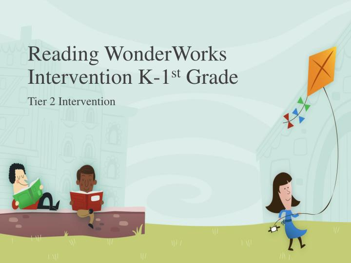 Reading wonderworks intervention k 1 st grade