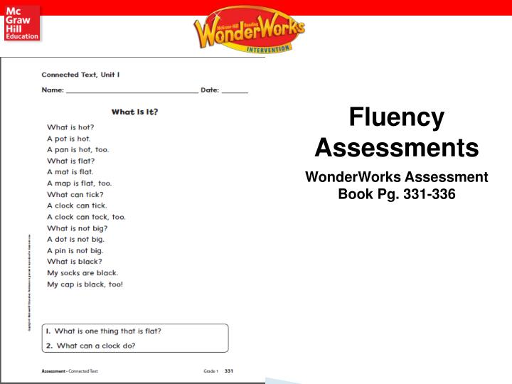 Fluency Assessments