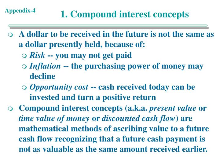 1. Compound interest concepts
