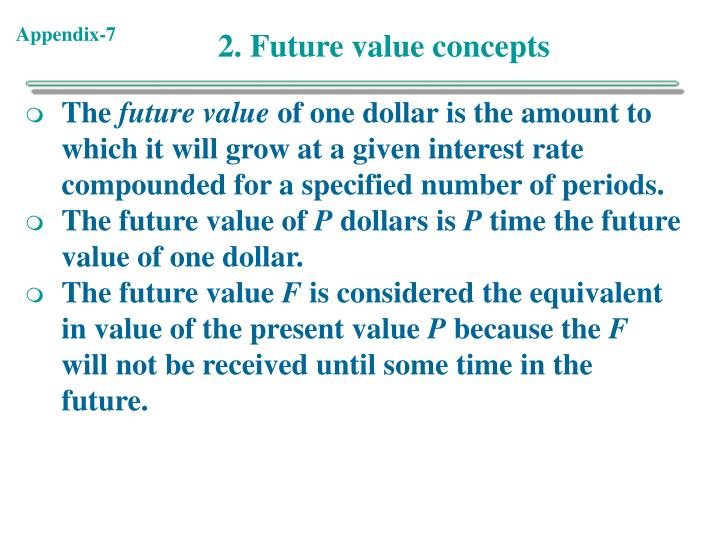 2. Future value concepts
