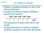 5 a ordinary annuities
