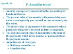 5 annuities cont