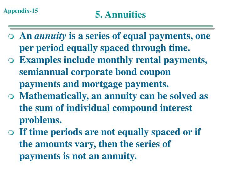 5. Annuities