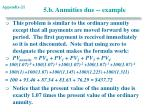 5 b annuities due example
