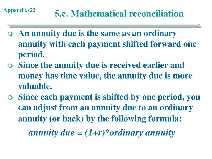 5.c. Mathematical reconciliation