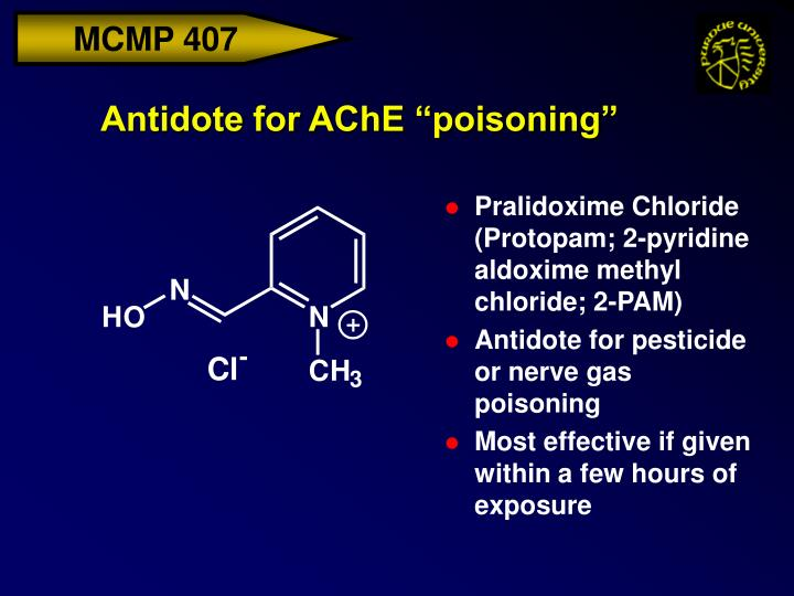"Antidote for AChE ""poisoning"""