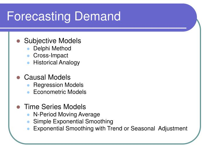 Forecasting demand1