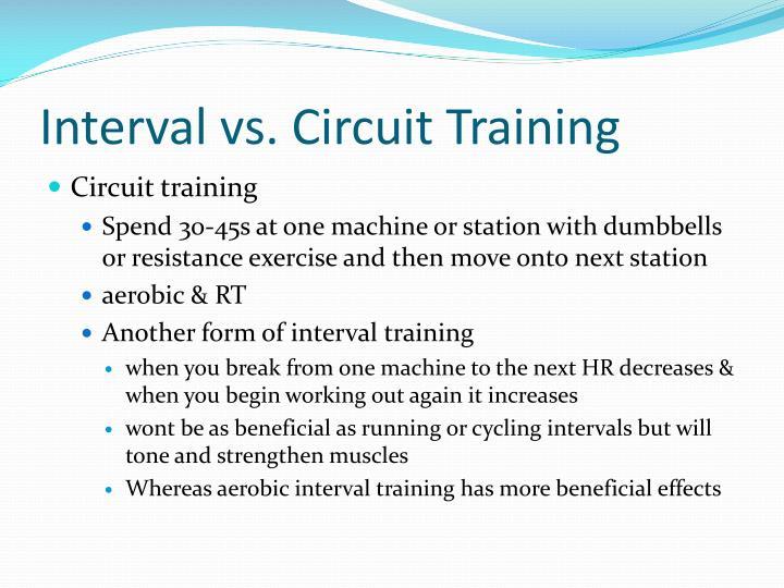 Interval vs. Circuit Training