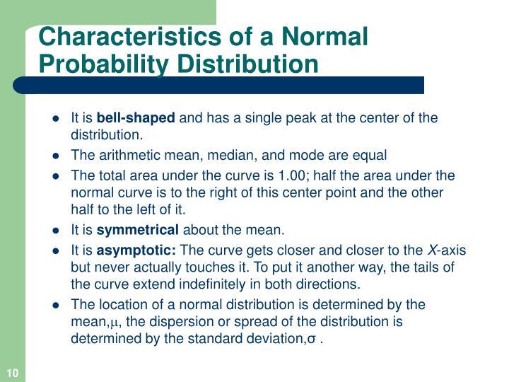 Characteristics of a Normal
