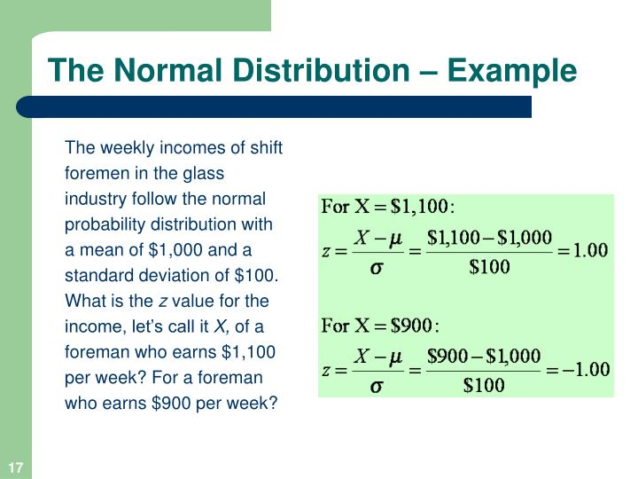 The Normal Distribution – Example