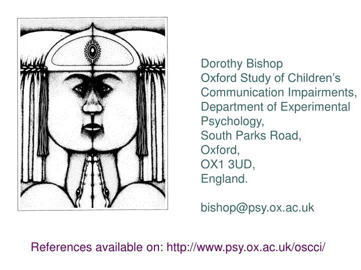 Dorothy Bishop
