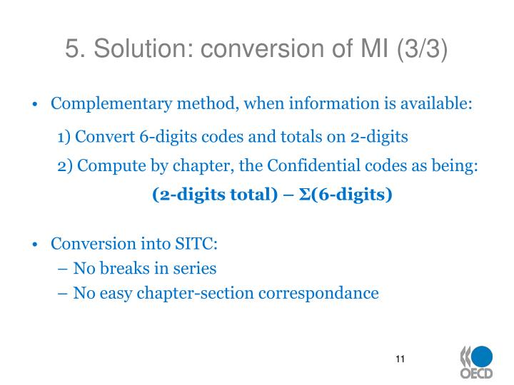 5. Solution: conversion of MI (3/3)