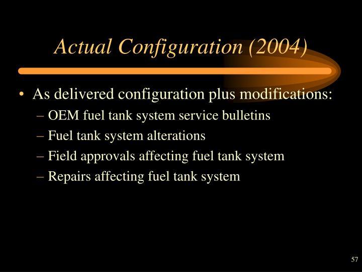 Actual Configuration (2004)