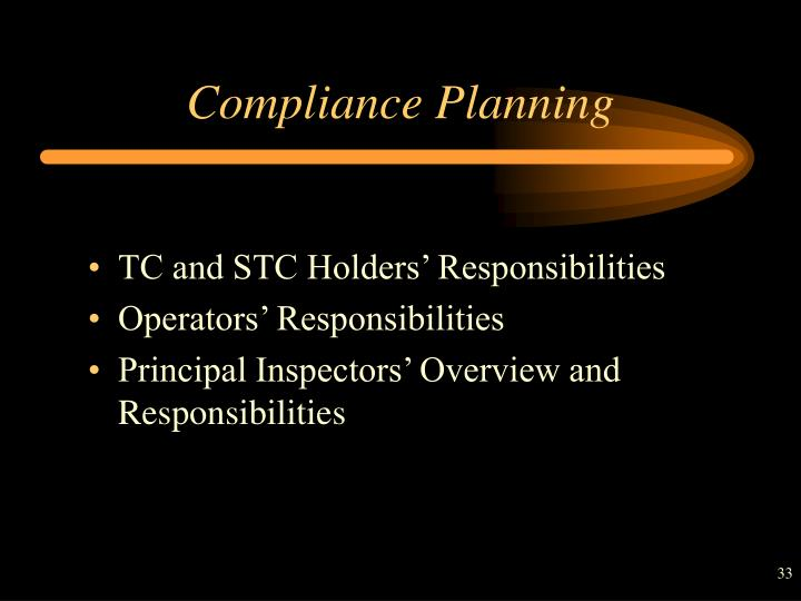 Compliance Planning