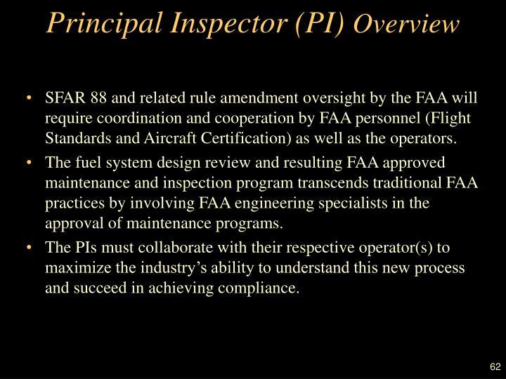 Principal Inspector (PI)
