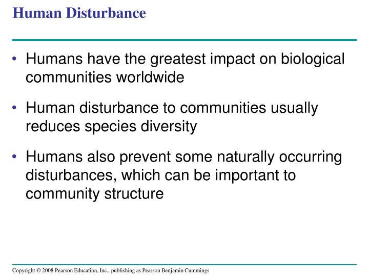 Human Disturbance
